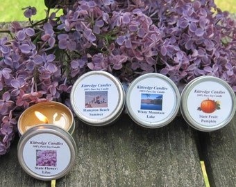 NEW HAMPSHIRE  SAMPLER (four 2-oz soy candles)
