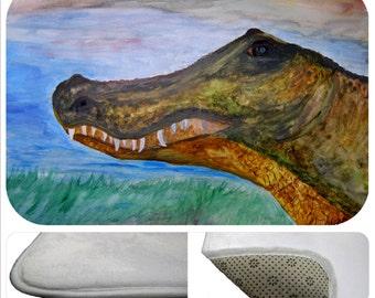 Alligator head bathmat from my art