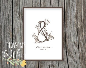 Customized Vintage Monogrammed Print