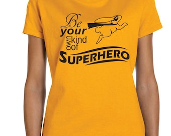 womens shirt Be Your Own Kind of Superhero, teacher gift, thank you gift t-shirt, Camp counselor gift, super hero shirt, Superhero bunny
