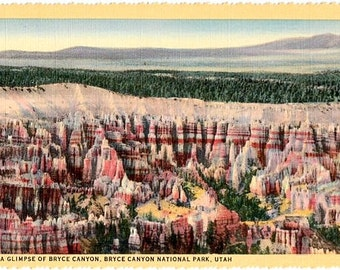 Vintage Utah Postcard - Bryce Canyon, Bryce Canyon National Park (Unused)