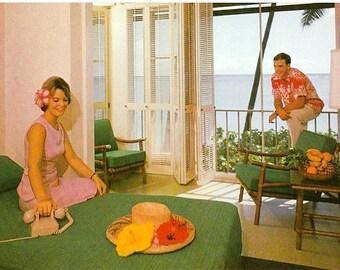 Vintage Hawaii Postcard - The Halekulani Hotel, Honolulu (Unused)