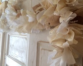 Burlap Garland. Rustic Banner for Shabby Chic Wedding.  Also works as a Wedding Shower decoration. Customizable