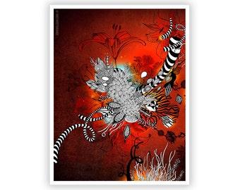 Wild Lily by Iveta Abolina -  Floral Illustration Print