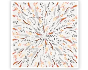 Feather Roll by Iveta Abolina -  Floral Illustration Print