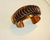 SaLe Was 59.99 Vintage RENOIR Copper Modernist Cuff Bracelet MCM