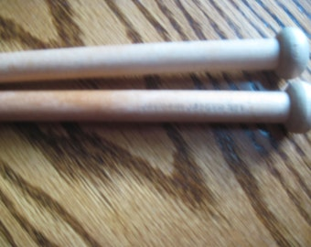 Vintage Jaeger Jack Pin Wooden  Knitting Needles 12 Inch US Size 17 Marked Size 1  Free US Shipping