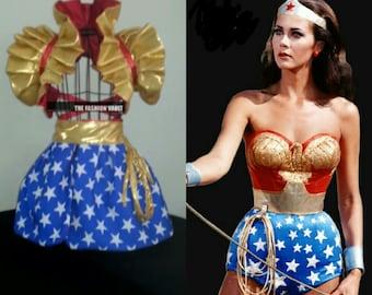 Two in one Complete set Wonder Woman Reversible Cosplay dance costume Collar Bolero Shrug