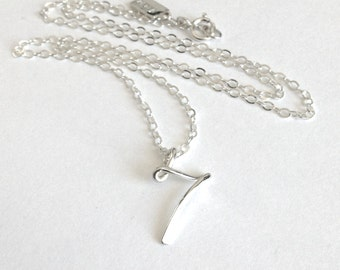 Numbers Numerology Necklace Sterling Silver