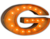 "CLEARANCE UNIVERSITY of GEORGIA Logo - 24"" Vintage Marquee Lights"