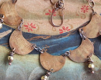 Completely Hand Fabricated Boho Tribal Necklace