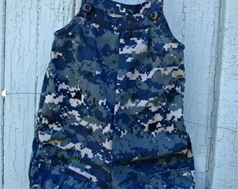 Baby Romper Military Navy Uniform