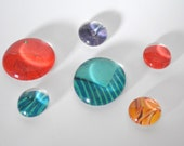 jewel tone magnet or push pin set - made from recycled magazines, stocking stuffer, hostess gift, graduation