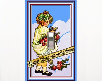 0201a - Little Dutch Girl Switchplates - Mrs Butler (choose size and box from dropdown box)