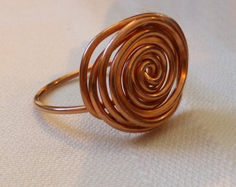 Handmade Copper Ring. Circles of Love. Hammered Copper Ring. Talisman Jewelry. Handmade Jewelry.