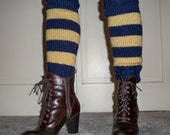 Leg Warmers in Ravenclaw Book Colors