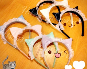 Lacy Cat Ear Headband