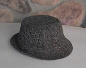 Large Vintage Donegal Tweed Mens Hat