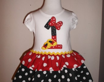 Miss Mouse Inspired Birthday Dress