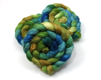 Polwarth/ Silk Roving (60/40) (Combed Top) - Hand painted Felting or Spinning Fiber