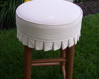 Round Bar Stool Slipcover with Cushion and Knife Pleats Canvas Barstool Cover & Slipcovers for Bar stools-Bench u0026 Ottomans by AppleCatDesigns islam-shia.org