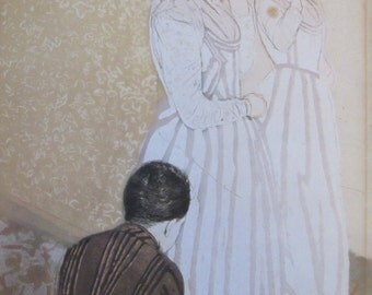 Mary Cassatt- The Fitting,1891, Color Plate/ Book Print/6.75 x 10 in
