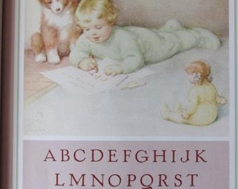 Bessie Pease Gutmann, Nursery Print, Children's Print, Unframed Book Print, 6 x  8 in Book Plate