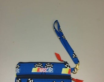 NASCAR wristlet handmade race day purse