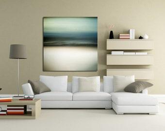 Sea's Sage, contemporary photo, coastal wall art, blue bedroom decor, modern canvas, dreamy seascape, teal home decor, sage wall decor