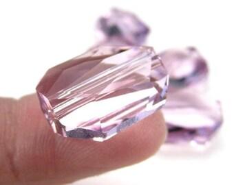 18mm Swarovski Crystal Graphic Bead 5520, Light Amethyst, Purple Crystal Focal Bead, Pendant