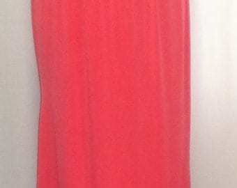 Plus Size Skirt Coco and Juan Plus Size Lagenlook Coral Traveler Knit Skirt with Ruffled Trim Size 1 fits 1X,2X