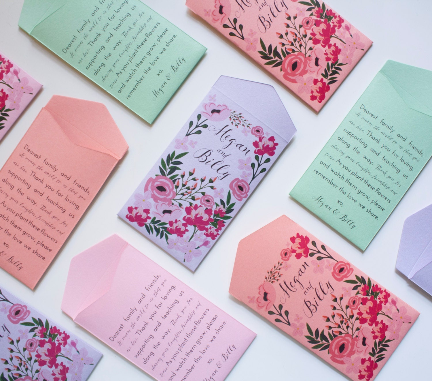 Garden Wedding Seed Packet Favors Quotes