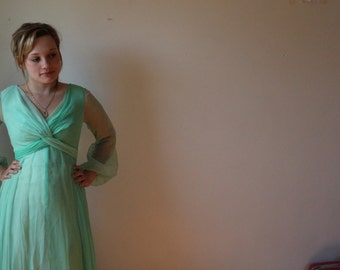 Chiffon Green Party Gown