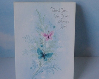 Vintage  Thank You For Your Shower Gift cards. 7 cards. Ambassador Cards.