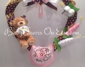 Baby Girl Heart Wreath