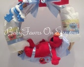 Sleeping Elmo Baby Wreath