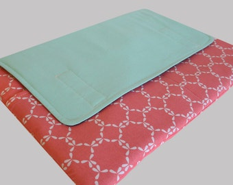 MacBook Air Sleeve, MacBook Air Case, MacBook Air 13 Inch Sleeve, MacBook Air 13 Case, MacBook Air Cover Mint Coral