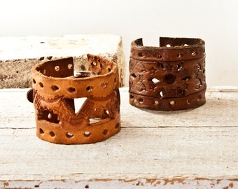 Cuff Bracelets Vintage Handmade From Leather Belts 2017 Trends