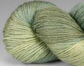 Yarn, Handpainted Merino Silk 50/50, Fingering Wt, Alight, 100 g, Spring Sapling