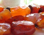 Hand Knapped Carnelian Nuggets 5 pcs about 3.5 - 4 inches (9-10cm)