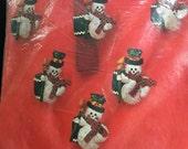 Bucilla Christmas Needlecraft - 6 Jeweled snowman