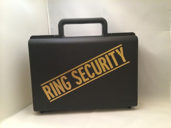 Ring Bearer Briefcase Ring Security Case Ring Security