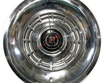 1977 - 1982 Ford LTD Hub Cap Clock - Mercury Cougar Hubcap - Industrial Wall Decor - 1978 1979 1980 1981