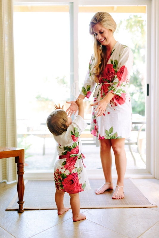 Baby Mommy Matching Robe Kimono Robes Perfect Baby shower