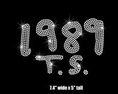 Reserved -  Two (2) 1989 T.S.  Taylor Swift iron on rhinestone transfers