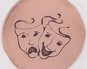 Comedy/Tragedy Mask 8mm x 9mm metal Stamp - Handstamping Metal Jewelry Tool The Urban Beader