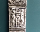 Three Graces Ceramic Pottery Relief Sculpture Tile