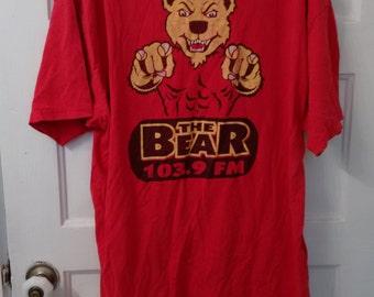 The Bear 103.9 FM radio tshirt shirt 80s disc jockey dj radio station