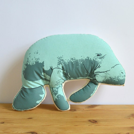Plush Manatee Pillow