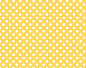 Yellow Small Dots Fabric from Riley Blake Designs - by the Yard - 1 Yard - Yellow Polka Dots - C350-50